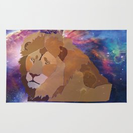 The Lion Is High Rug