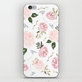 Floral Blossom - Muted Pink iPhone Skin