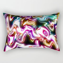 Oil Spills Neon Rectangular Pillow