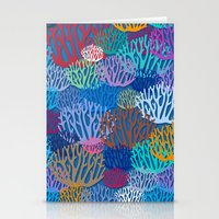 coral Stationery Cards featuring Coral by Helene Michau
