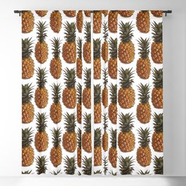 Pineapple Pattern Vector Blackout Curtain