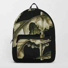 Carnation & Poppy on Charcoal Backpack