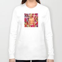 bass Long Sleeve T-shirts featuring Jake Bass by Kimball Gray