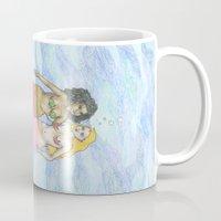 lesbian Mugs featuring lesbian mermaids by ElenaM