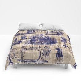 Vintage Sewing Toile Comforters