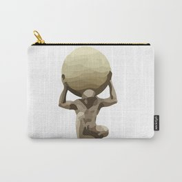 Man with Big Ball Illustration white Carry-All Pouch