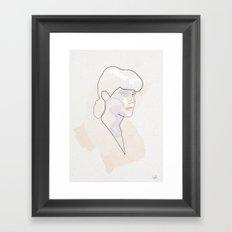 One Line Rachael  Framed Art Print