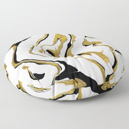 Gold And Black Opulence Floor Pillow