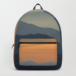 """""""Sunset at the mountains"""". Dreaming... Backpack"""