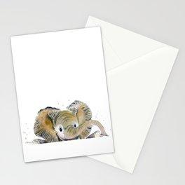 Hello,Anybody At Home? - Baby Elephant Stationery Cards