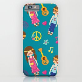 Hippie Neck Gator Ukele Hippies Neck Gator iPhone Case