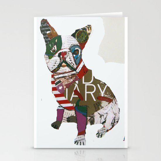 boston bull Stationery Cards