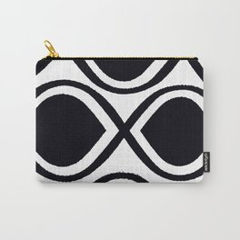 BLACK AND WHITE RANDOM GRAPHIC Carry-All Pouch