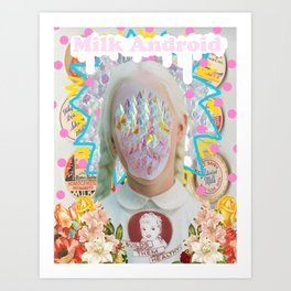 Milk Android: Builds Them Healthy Art Print