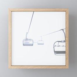 Ski Lift Framed Mini Art Print