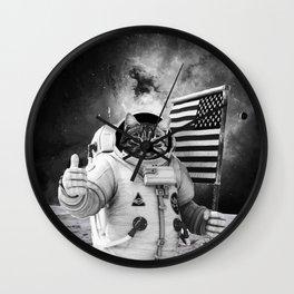 SPACE AMERICAN CAT Wall Clock