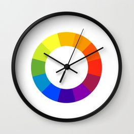 Pantone color wheel Wall Clock