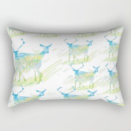 Deer Pattern Rectangular Pillow
