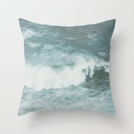 Faded sea Throw Pillow