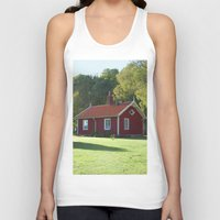 swedish Tank Tops featuring Swedish Cottage  by Sarah Osterman