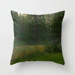 Magical mist Throw Pillow