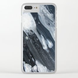untitled (3189 blck and white) Clear iPhone Case