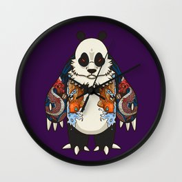 Yakuza Panda - DragonKoi  Wall Clock