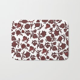 red flowers and foliage . Art Bath Mat