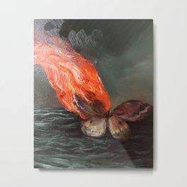 Burning Moth (detail from Swan Song) Metal Print