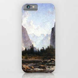 Fishing The Merced River 1892 By Thomas Hill | Reproduction iPhone Case