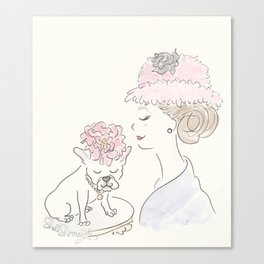 French Bulldog Flower Power : Fashion and Fluffballs Canvas Print