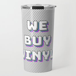 We Buy Vinyl Travel Mug