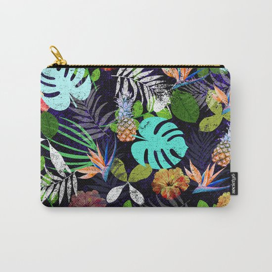 Tropical garden at night Carry-All Pouch