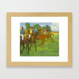 Before the Race - By Edgar Degas Framed Art Print