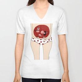 Menstruation Unisex V-Neck