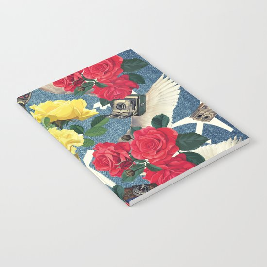abstract flowers ,pattern  Notebook