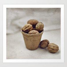 Eat my nuts Art Print