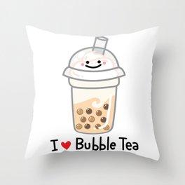 I LOVE BUBBLE TEA Throw Pillow