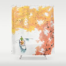 Autumn Drifting Shower Curtain