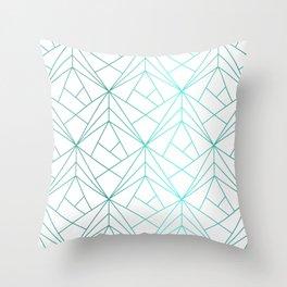 Geometric Turquoise Pattern Throw Pillow