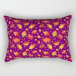 Autumn Nights Leaf and Star Pattern Rectangular Pillow