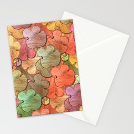 Rustic tree slices in a modern style Stationery Cards