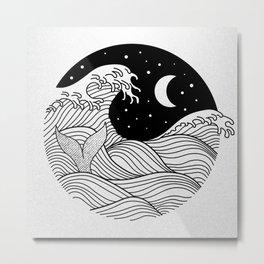 Night Swim Metal Print
