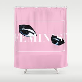 Feminist Eyes Shower Curtain