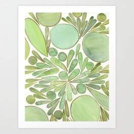 Groovy green Design Art Print