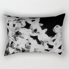 White Flow Rectangular Pillow