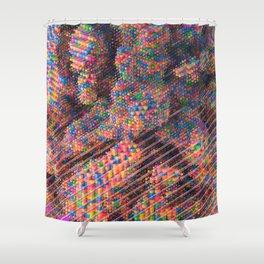 Explosive Popcorn Gum (Bigger) Shower Curtain