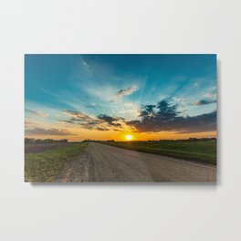 Sunset in the Country. Metal Print