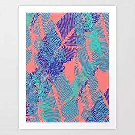 Carved Fluo Jungle #society6 #decor #buyart Art Print