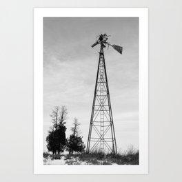 Twisted Windmill Art Print